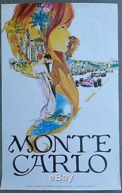 2 Old Posters / Original Posters Monte Carlo Travel France French Riviera Sncf