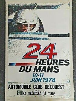 24 Hours Of Le Mans 1978 Original Poster On Canvas 59x39 Aco Automotive Lardrot