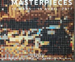Affiche Invader Galerie Lefevre Masterpieces Exhibition 2017 Poster Street Art