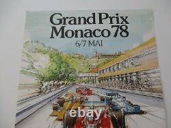 Ao951b F1 Original Monaco Grand Prix Poster 6/7 May 1978 Good State