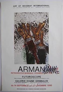 Arman Armand Fernandez Poster 1990 Signed Aux Felt Handsigned Poster Nice