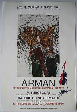 Arman Drawing With Felt Signed On Poster Handsigned Drawing On Poster Nice