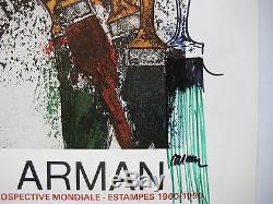 At Arman Drawing Felt Signed On Displays Handsigned Felt Drawing On Post Nice