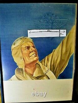 Authentic Display Ww2 / Original Poster / Aviation Nsfk / 80cm X 60cm