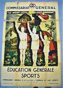 Authentic Ww2 / Original Poster / 80 X 120 CM / A Restaurer