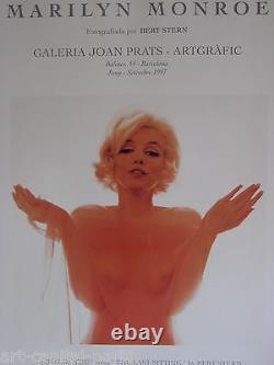 Bert Stern Shows Marilyn Monroe Produced In 1997 Background Poligrafa Poster
