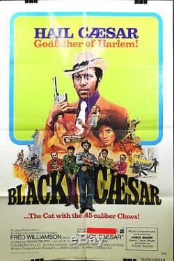 Black Caesar Original Poster. U.s.a France 1973 + James Brown Soul Funk Post