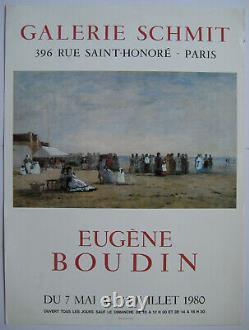 Boudin Eugene Original Poster 1980 Signed Poster Mourlot Paris Impressionism