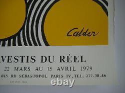 Calder Alexander Displays In 1979 Lithographic Signed Poster