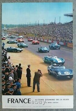 Car Racing 24 Hours Le Mans Poster Old/original Poster 1959
