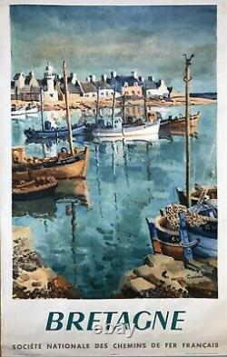 Ceria Poster Original 1953 Brittany Sncf Railways French Poster