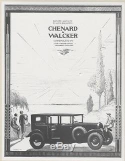 Chenard Walcker & Displays Original Interior Entoilée Puybelle 1924 33x41cm
