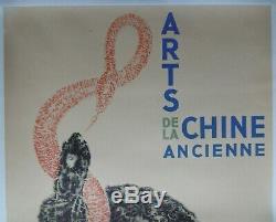 China Arts Old Original Poster 1937 Paris Vintage Poster China Asia