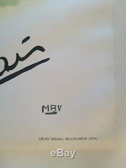 Courchevel Moriond-emile Allais Ski Poster Old / Original Post Mbv 1955
