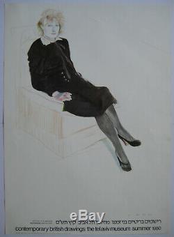David Hockney Poster Original 1980 Celia Signed Signed Dh Dh Post Pop Art