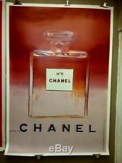 Displays Chanel No. 5 By Andy Warhol Original Vintage Poster 1997 Entoilée