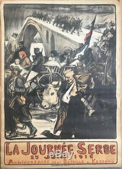 Displays Charles Fouqueray 1916 Serbian Day Original 1916 French Post