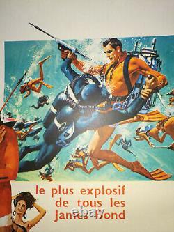 Displays Operation Thunder Original Entoilée 1965 60x80 Thunderball Post