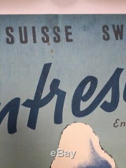 Displays Original Post 1955 Pontresina Swiss Engadin Ski Schweiz Switzerland
