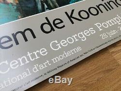 Displays Original Post From Willem Kooning Center Pompidou Paris 1984
