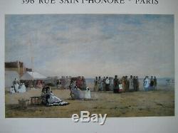 Eugene Boudin Poster Signed Original 1980 Mourlot Paris Post Impressionism