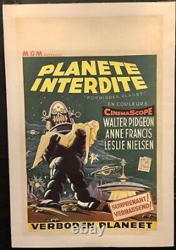 Forbidden Planet Planète Interdite Original Linenbacked Affiche Poster