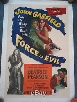 Force Of Evil 1948 Original Poster Displays Us Abraham Polonsky John Garfield