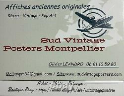 Former Aquaboulevard Poster By Paris Original Vintage Poster 118x168