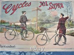 Former Poster Original Bike Cycles Nil Supra Ch Verneau Paris Old Poster