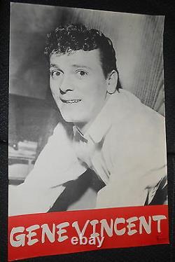 Gene Vincent 60s Rare Affiche Original French Poster