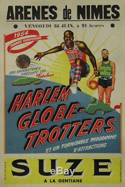 Harlem Globe Trotters-arenes Nimes, 1954 (suze) Original Poster Entoilée