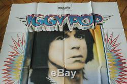 Iggy Pop Instinct Rare 1988 French Poster Post Polydor Records Original