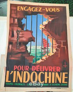 Indochina Get Involved Displays Old / Original Post Needle 1945