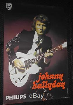Johnny Hallyday End 70s Rare Original French Poster Poster