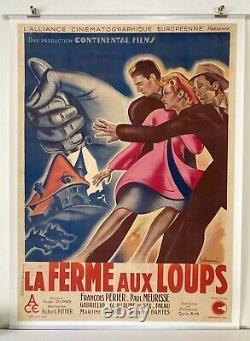La Ferme Aux Loups Poster Original 1943 Poissonnié 120x160 Movie Poster Ww2
