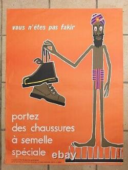 Lot Of 15 Old Preventive/original Posters Chadebec Metzger 1970