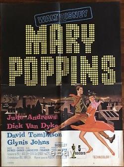 Mary Poppins / 1964 Original / Walt Disney / 60x80 / poster / Display