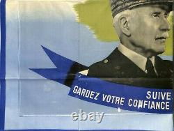 Militaria / Original Poster Poster Marechal Illustrator Villemot