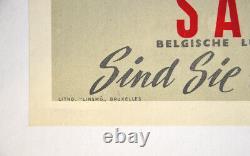 Mit Sabena Sind Sie In Guten Händen, Original Vintage Poster Aviation