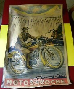 Motosacoche Poster Poster Original Old Pub 1920 Moto Garage Fritayre