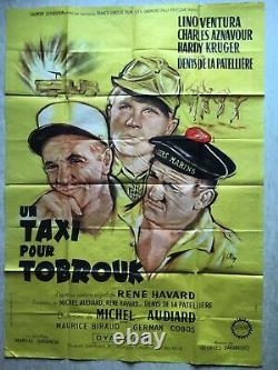 Movie Poster A Taxi For Tobruk (eo 1961) Original French Movie Poster