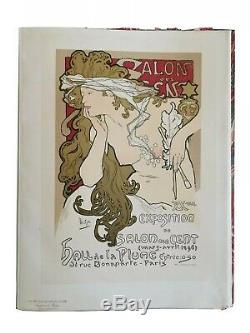 Mucha Litho Des Sens Original Masters Salon Poster 1897 Post Authentic