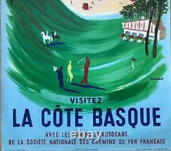 Nathan Garamond Original 1954 Poster Paris Sncf Railways French Poster