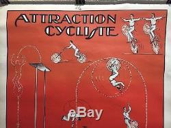 Old Circus Poster Round Darwins Bergougnan Rare Original Post