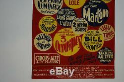 Original Antique Circus Poster Bordeaux 1951 Vintage Circus Posters