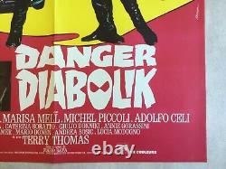 Original Cinema Poster Danger Diabolik (1967) Original French Movie Poster