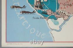 Original Colonial Poster, Choain Audiberti. J French Equatorial Africa