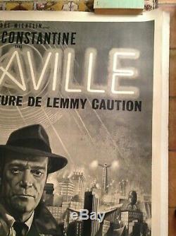 Original French Poster Alphaville Jean Luc Godard Mascii / Original Poster
