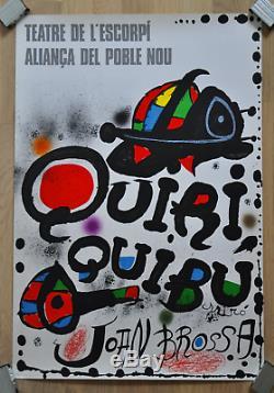 Original Lithograph Poster Full Joan Mirò 1976 Near Mint