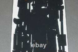 Original Lithographed Poster Pol Bury 1963, Abstract Art Lithography Poster